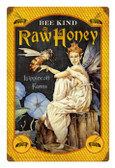 Retro Tin Sign Bee Kind Honey 12 x 18 Inches