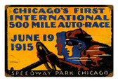 Retro Tin Sign Chicago 500 18 x 12 Inches