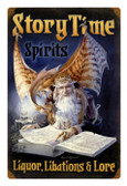 Vintage Metal Sign Story Time Spirits 12 x 18 Inches