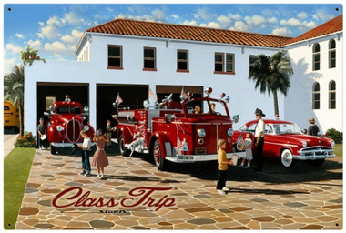 Retro Tin Sign Class Trip 36 x 24 Inches
