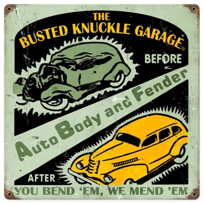 Old Auto Signs : Vintage auto body shop metal sign
