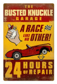 Vintage  24 Hour Repair Metal Sign