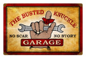 Vintage  Busted Knuckle Garage Metal Sign 9
