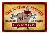 Vintage  Busted Knuckle Garage Metal Sign 9