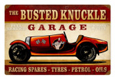 Vintage Race Car Metal Sign