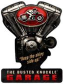 Vintage  Busted Knuckle Garage Metal Sign 10