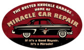 Vintage  Miracle Repair Tin Sign