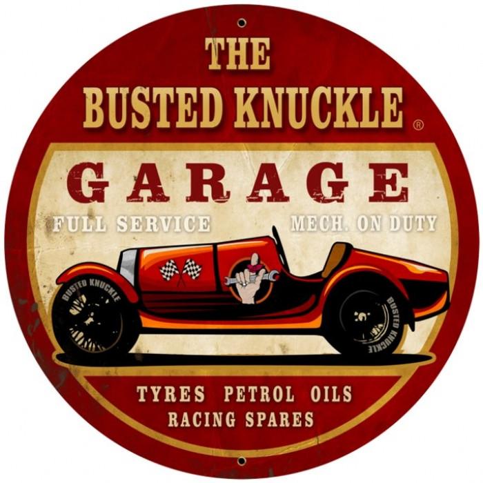 Vintage Metal Car Signs : Vintage old race car tin sign
