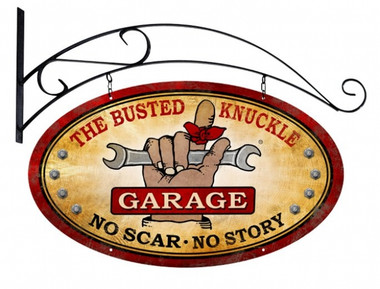 Vintage  Busted Knuckle Garage Tin Sign 4