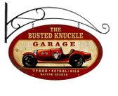 Vintage  Old Race Car Tin Sign 1
