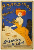 Vintage  Amandines Biscuits Tin Sign