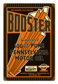 Retro Booster Motor Oil Metal Sign