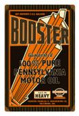 Retro Booster Motor Oil Metal Sign