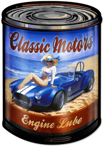 Retro Classic Motors Metal Sign