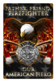 Retro Firefighter Metal Sign