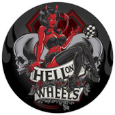 Retro Hell on Wheels Metal Sign