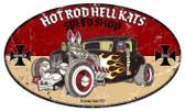Retro Hot Rod Hell Kats Metal Sign