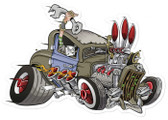 Retro Rat Rod Metal Sign