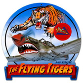 Vintage-Retro Flying Tiger Round Banner Metal-Tin Sign