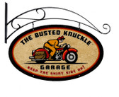 Retro Rider Double Sided Oval Metal Sign
