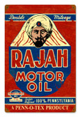 Vintage Rajah Motor Oil 12 x 18 inches Tin Sign