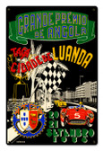 Vintage Angola Grand Prix 12 x 18 inches Tin Sign