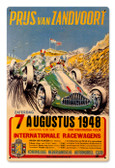 Vintage Zanvoort Grand Prix 12 x 18 inches Tin Sign