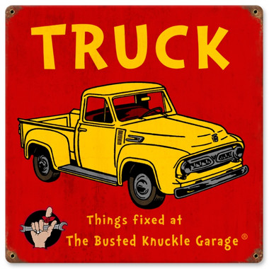 Vintage Kids Truck 12 x 12 inches Tin Sign