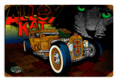 Vintage Rat Rod Alley Cat 12 x 18 inches Tin Sign