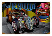 Vintage Rat Rod Ratitude 12 x 18 inches Tin Sign