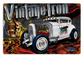 Vintage Rat Rod Vintage Iron 12 x 18 inches Tin Sign