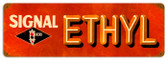 Vintage Signal Ethyl 24 x 8 inches Tin Sign