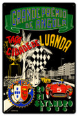 Vintage Angola Grand Prix 24 x 16 inches Tin Sign