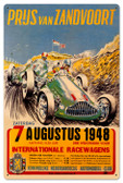 Vintage Zanvoort Grand Prix 24 x 16 inches Tin Sign