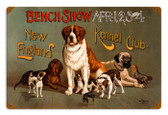Vintage New England Dog Show 12 x 18 inches Tin Sign
