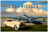 Retro Lady Pioneer Tin Sign 36 x 24  Inches