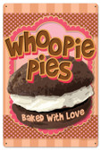 Retro Whoopie Pies Tin Sign 16 x 24  Inches