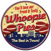 Retro Whoopie Pies Tin Sign 14 x 14  Inches