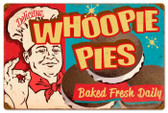Retro Whoppie Pies Tin Sign 24 x 16  Inches