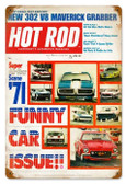 Vintage-Retro Funny Cars (Apr. 1971) Metal-Tin Sign