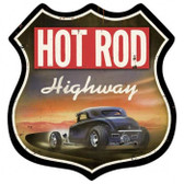 Vintage-Retro Hot Rod Highway Shield Metal-Tin Sign