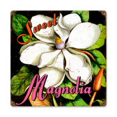 Vintage Sweet Magnolia Metal Sign 12 x 12 Inches Inches