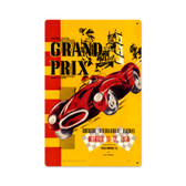 Vintage Riverside Grand Prix Metal Sign 12 x 18 Inches Inches