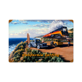 Vintage California Surfing Metal Sign 18 x 12 Inches Inches
