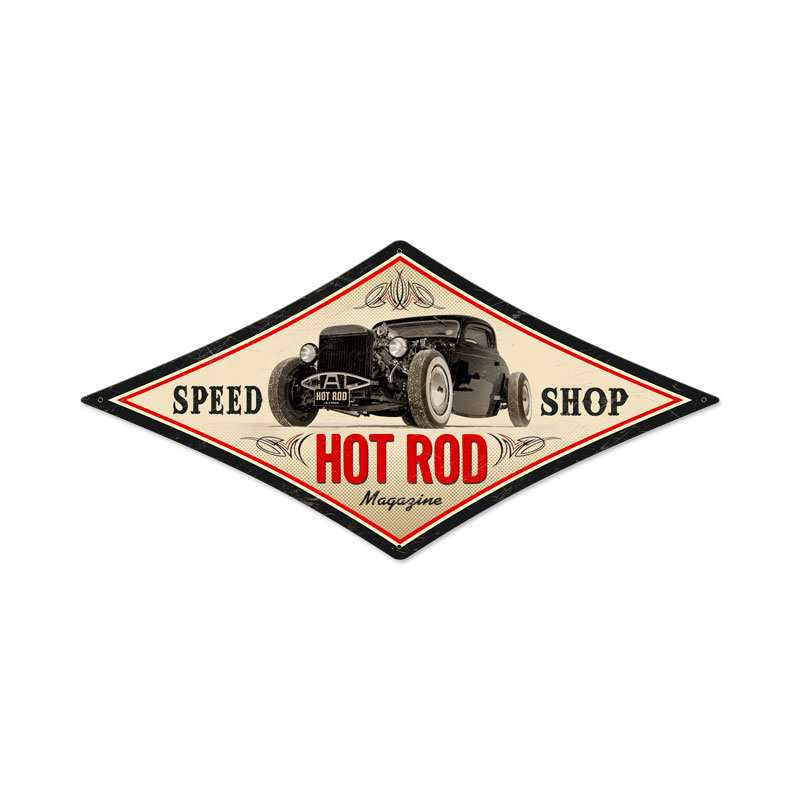 Vintage Speed Shop Logos Vintage Speed Shop Metal Sign 22 x 14 Inches Inches