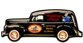 Vintage Welding Sedan Metal Sign 22 x 9 Inches Inches