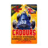 Vintage Cadours Circut Metal Sign 16 x 24 Inches Inches