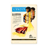 Vintage Lancia Metal Sign 16 x 24 Inches Inches
