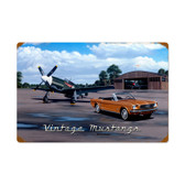 Vintage Vintage Mustangs Metal Sign 16 x 24 Inches Inches