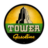 Vintage Tower Gasoline Metal Sign 28 x 28 Inches Inches